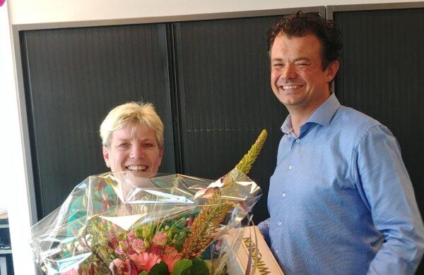 Jeanne 12,5 jaar in dienst bij Van Winssen Personeel en Salaris